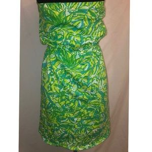 Lilly Pulitzer Windsor Strapless Pull On Dress XS